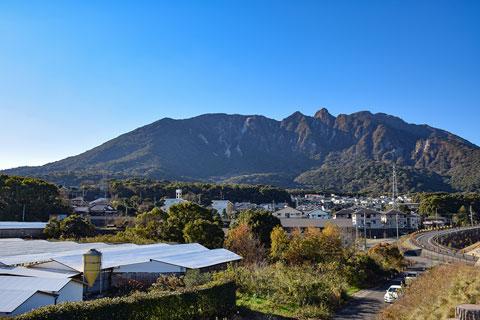 安中地区から見る普賢岳
